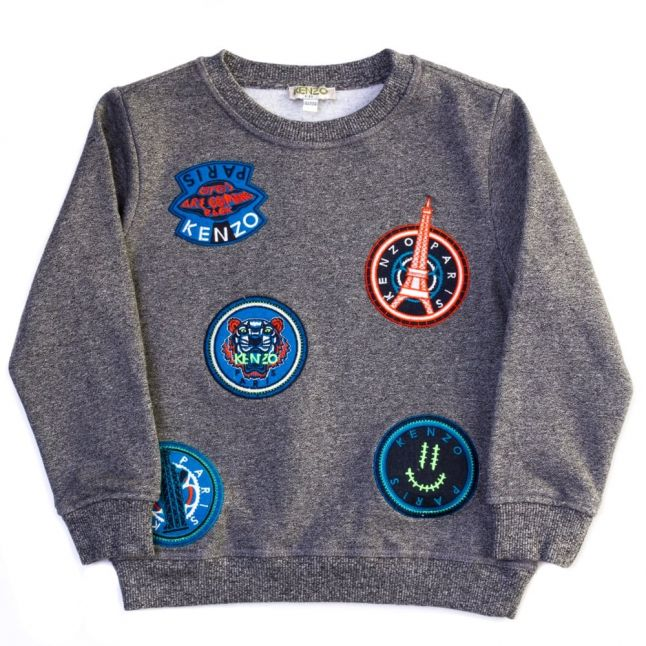Boys Twisted Grey Arnold Circles Sweat Top