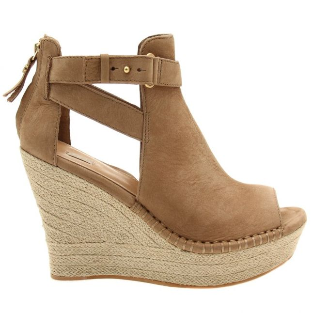 Womens Tawny Jolina Peep Toe Wedges