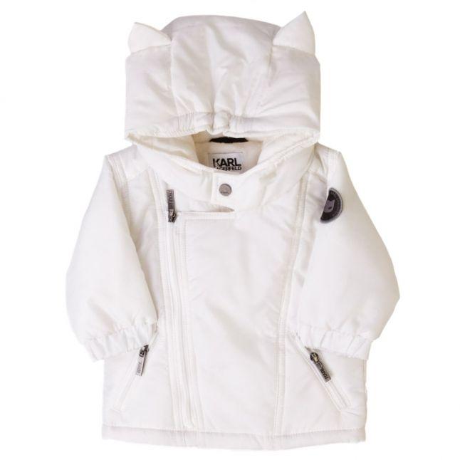 Baby White Zip Jacket