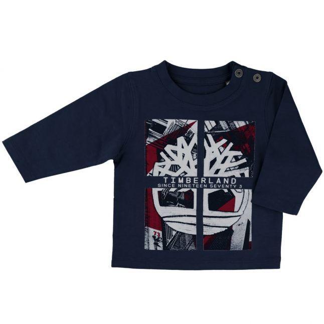 Baby Navy Tree L/s Tee Shirt