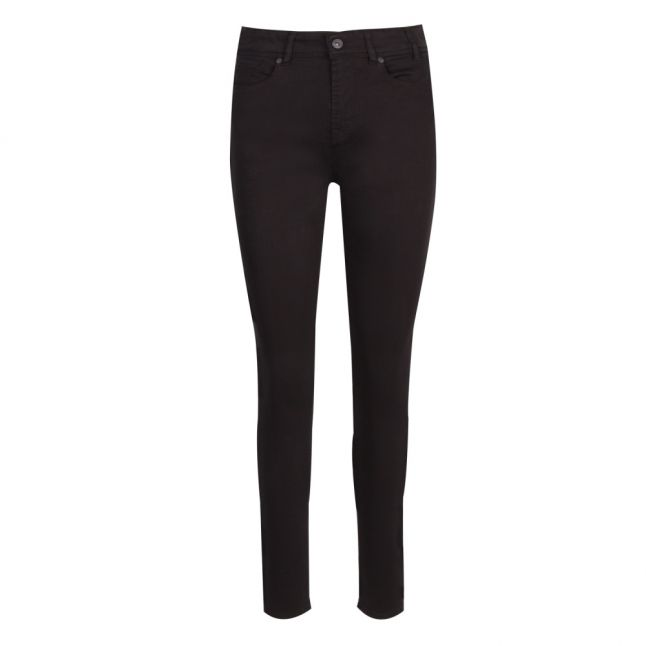 Womens Black Cotton Skinny Fit Jeans