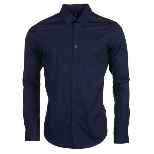 Mens Mazarine Blue Core Stretch L/s Shirt