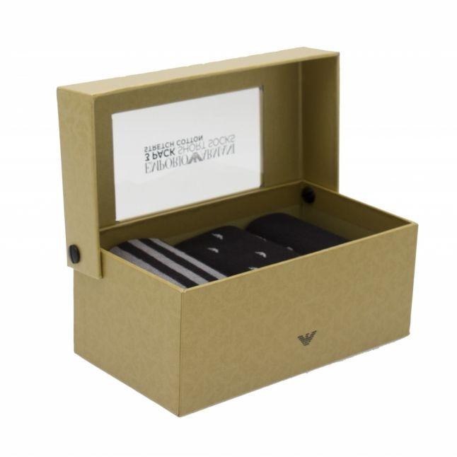 Mens Black Eagle Multipack 3 Pack Sock Gift Set