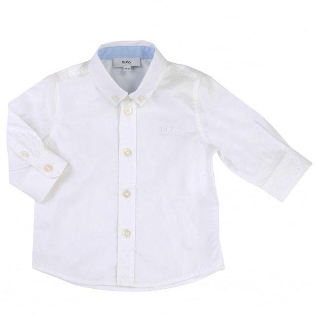 Baby White Branded L/s Shirt