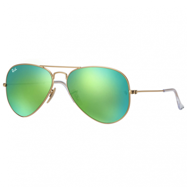 Gold & Green Flash RB3025 Aviator Large Sunglasses