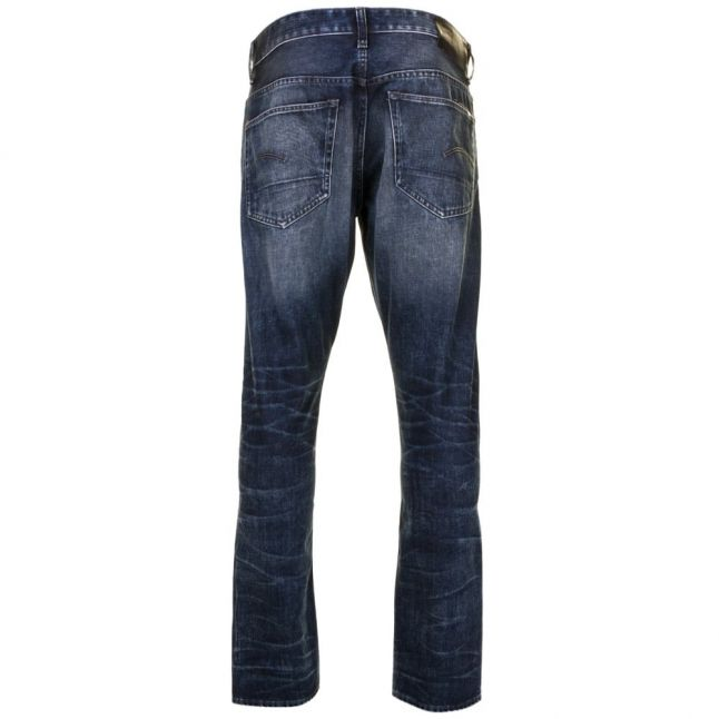 Mens Dark Aged Wash 3301 Tapered Fit Jeans