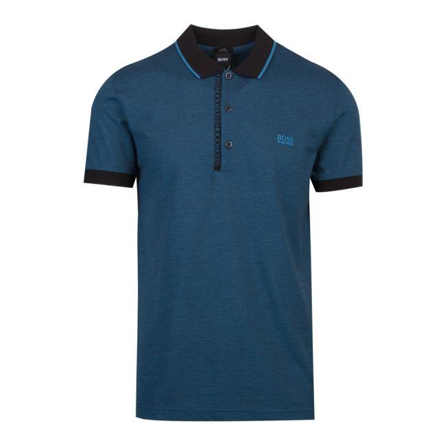 Athleisure Mens Black Paule 4 Slim Fit S/s Polo Shirt