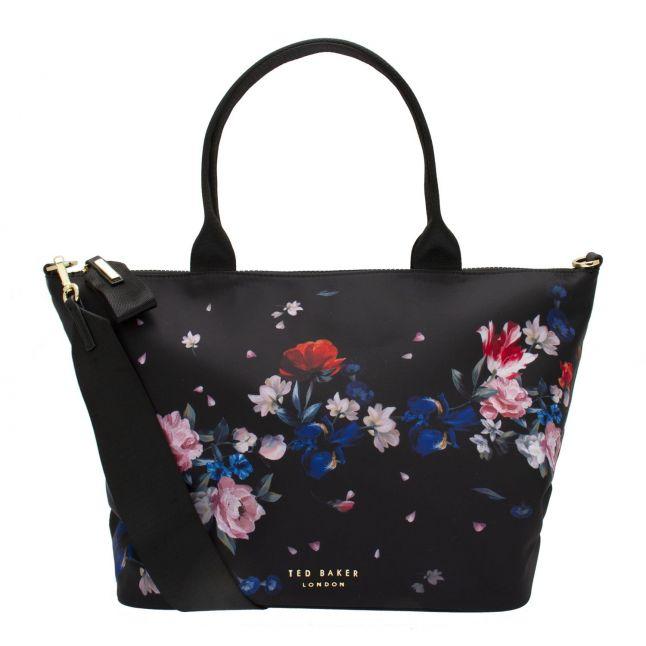 Womens Black Vannya Nylon Small Tote Bag