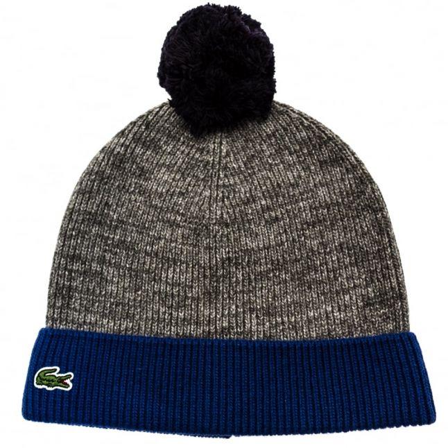 Boys Light Grey Knitted Bobble Hat
