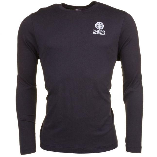 Mens Black Small Logo L/s Tee Shirt