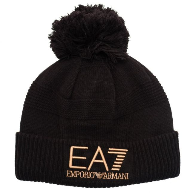 Mens Black Mount Urban Beanie Hat