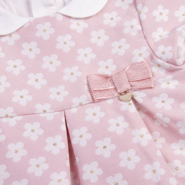 Baby Candy Jacquard Flower Dress