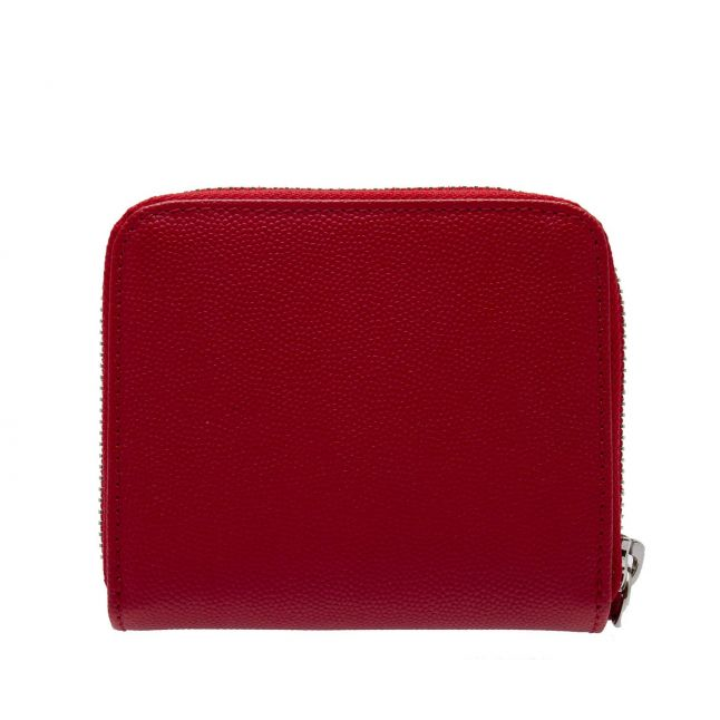 Womens Red Windsor Leather Small Zip Around Purse