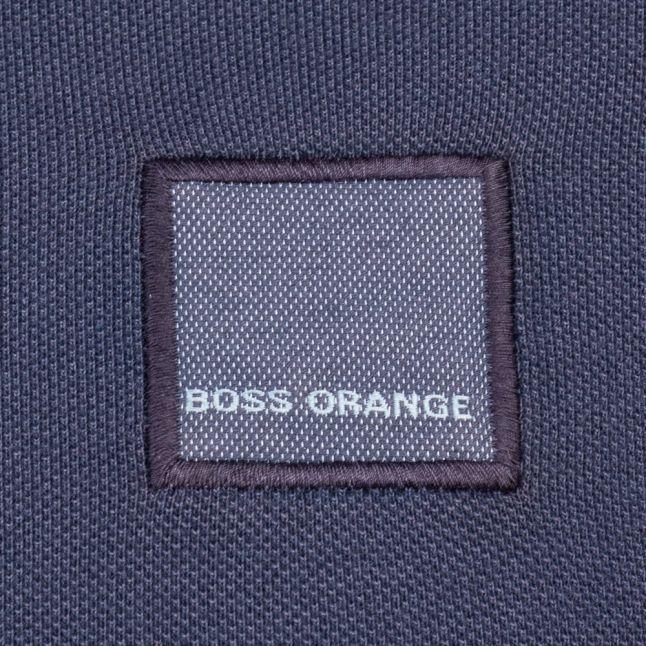 Orange Mens Dark Blue Pascha S/s Polo Shirt