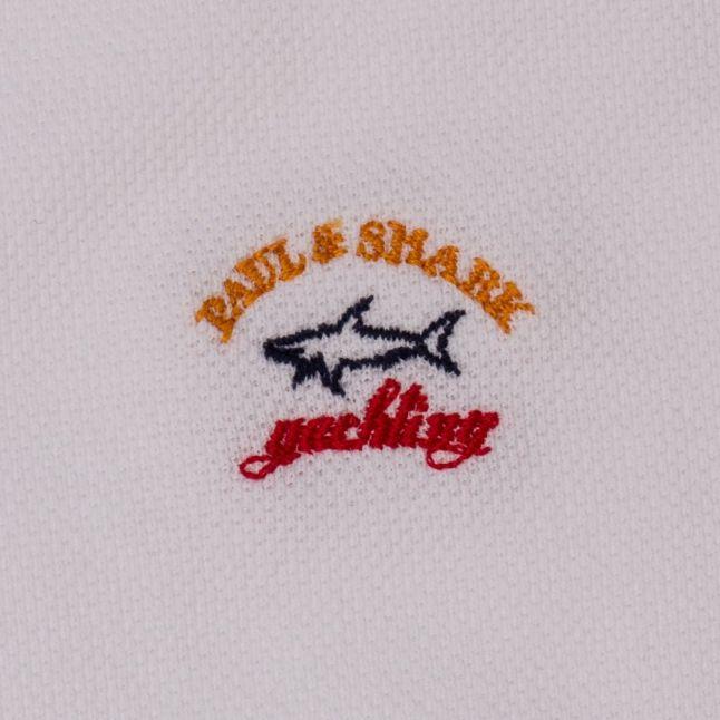 Paul & Shark Boys White Branded S/s Polo