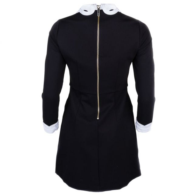 Womens Black Shealah Embroidered Collar Dress