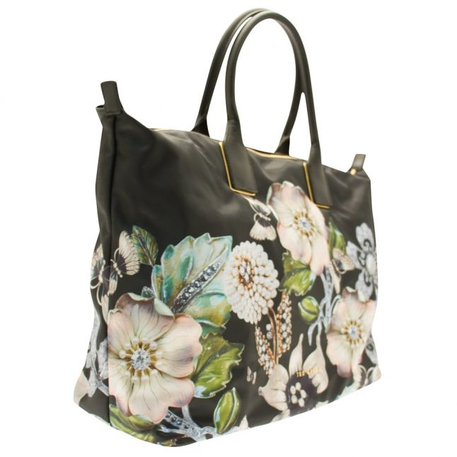 Womens Black Immy Large Nylon Tote Bag
