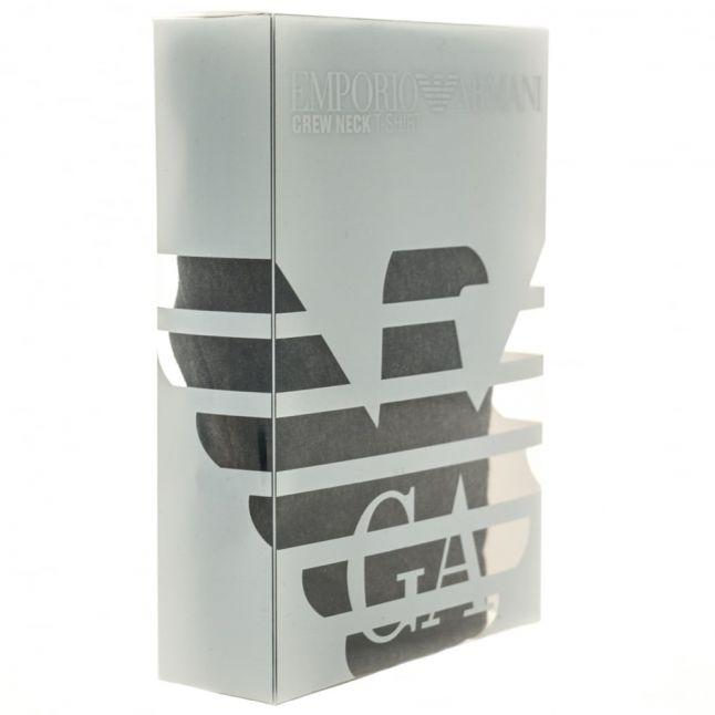 Mens Grey Striped Logo Band S/s Tee Shirt