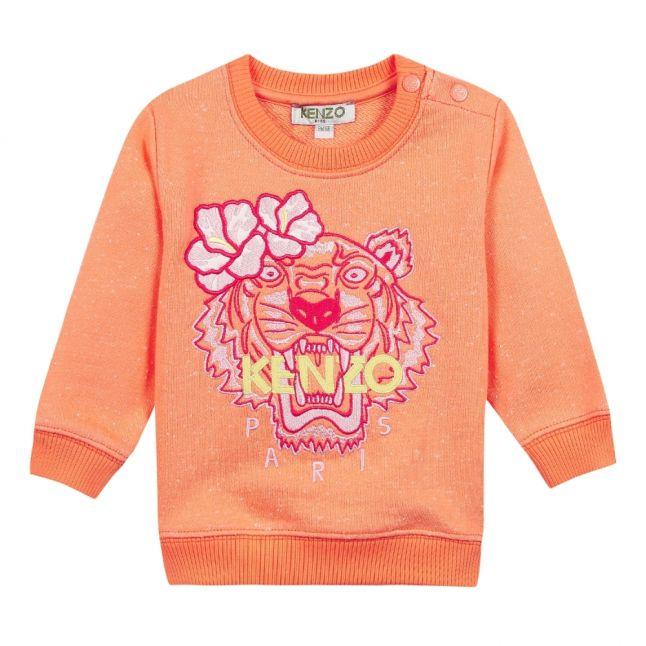 Girls Apricot Flower Tiger Sweat Top