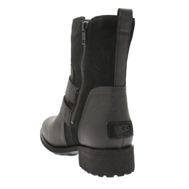 Womens Black Wilde Buckle Boots
