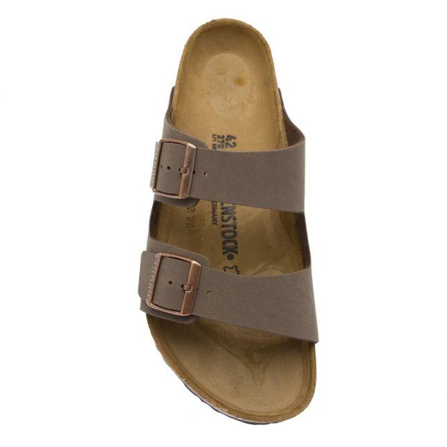 Mens Nubuck Mocha Arizona Birko-Flor Slide Sandals