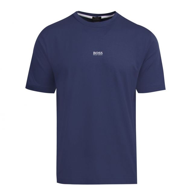 Casual Mens Mid Blue Tchup Centre Logo S/s T Shirt
