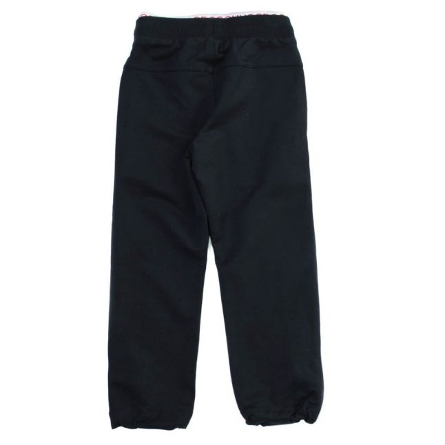 Boys Navy Branded Jog Pants
