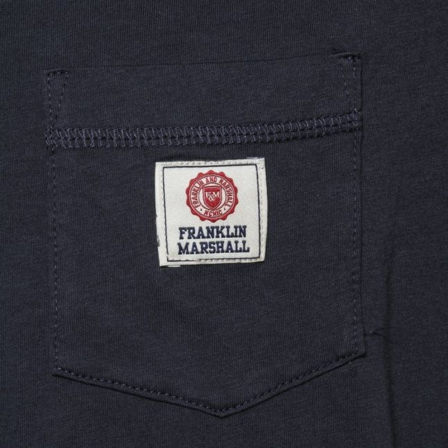 Mens Navy Small Logo Pocket S/S Tee Shirt