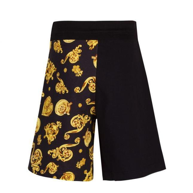 Mens Black Jewel Logo Mix Sweat Shorts