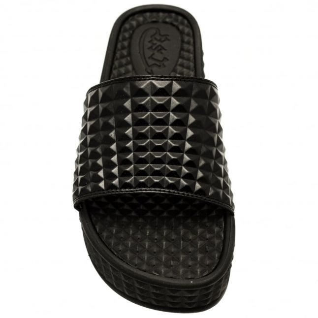 Womens Black Scream Slide Sandals