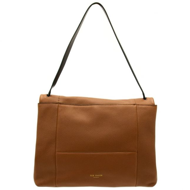 Womens Brown Proter Unlined Soft Leather Shoulder Bag