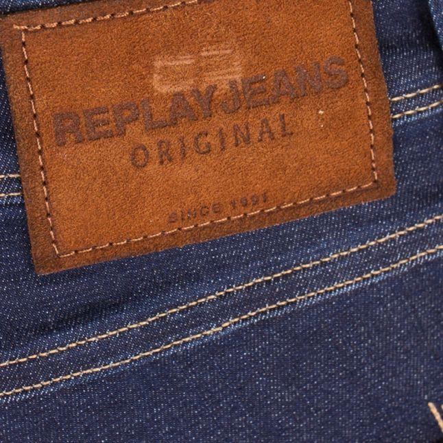 Mens Blue Anbass Slim Jeans