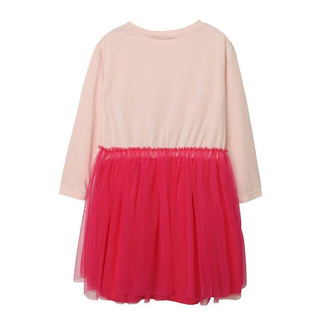 Girls Pale Pink Net Skirt Dress