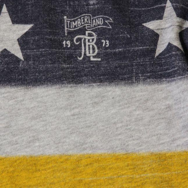 Boys Grey Flag L/s Tee Shirt