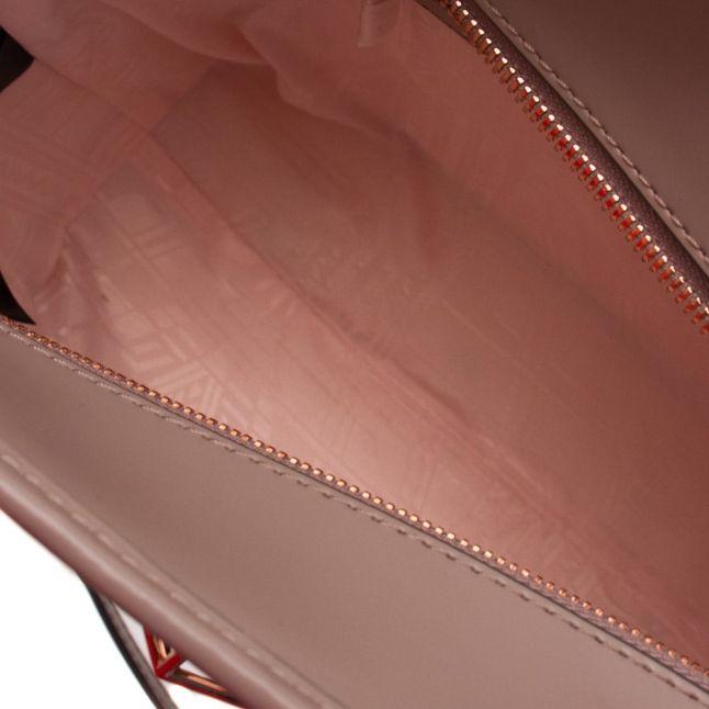 Womens Mid Purple Jalie Geometric Bow Leather Shopper Bag