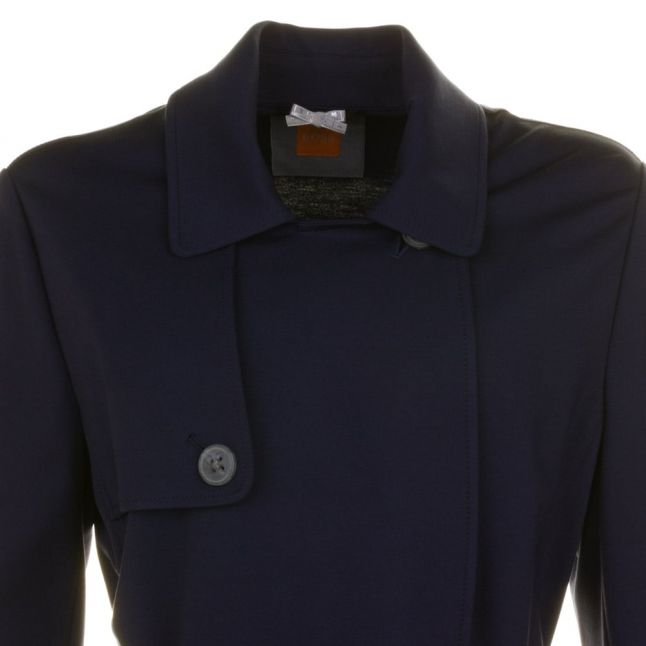Womens Dark Blue Odenimy Trench Coat