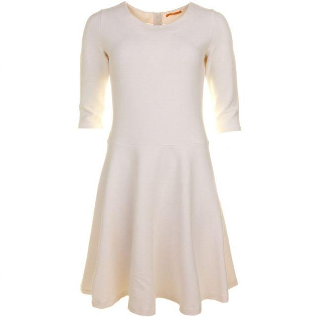Womens Natural Dipleat Dress