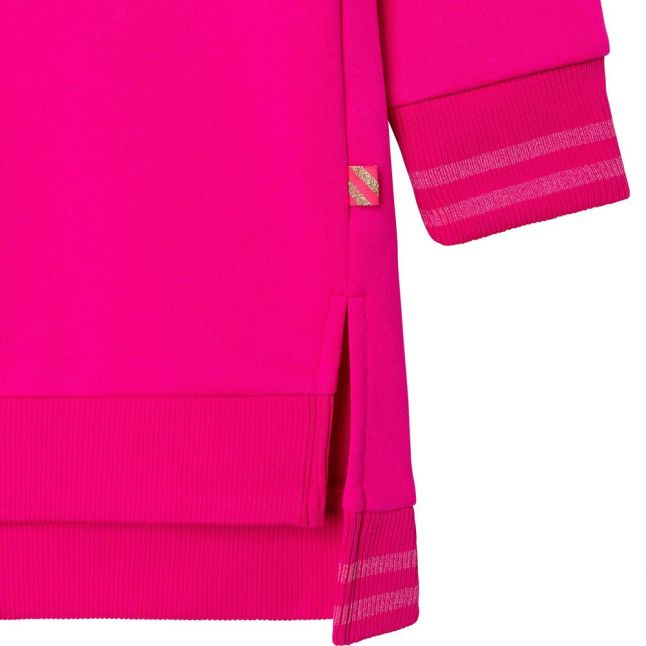 Girls Bright Pink Good Vibes Only Dress