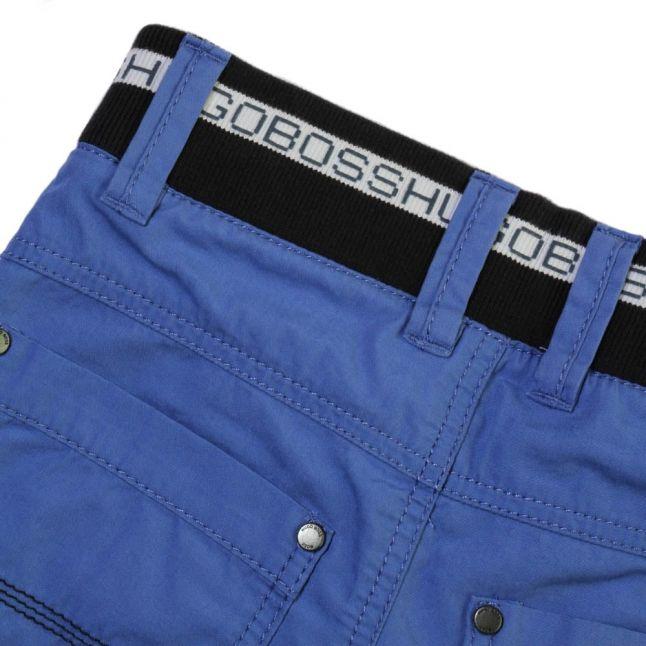 Boys Blue Branded Waistband Shorts