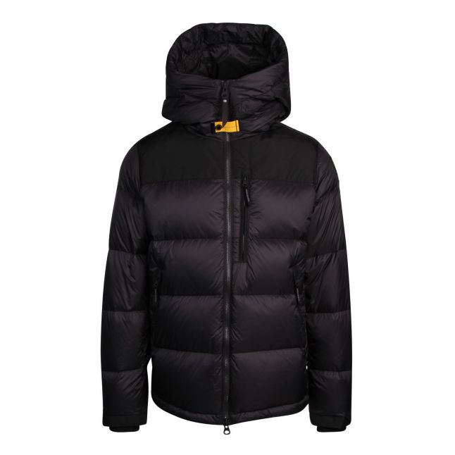 Mens Pencil Rin Padded Hooded Jacket