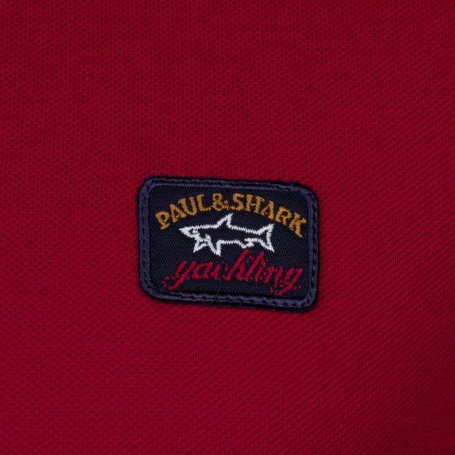 Paul & Shark Mens Red Shark Fit Basic S/s Polo Shirt