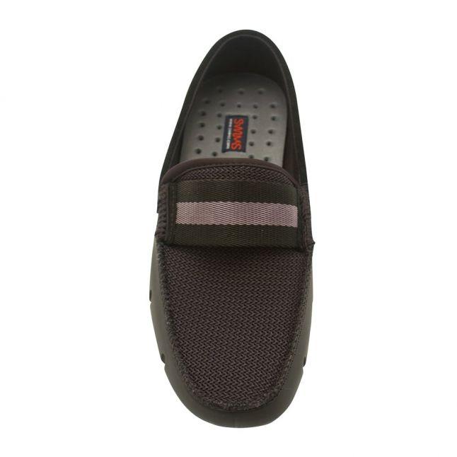 Mens Black & Grey Webbing Loafer Driver