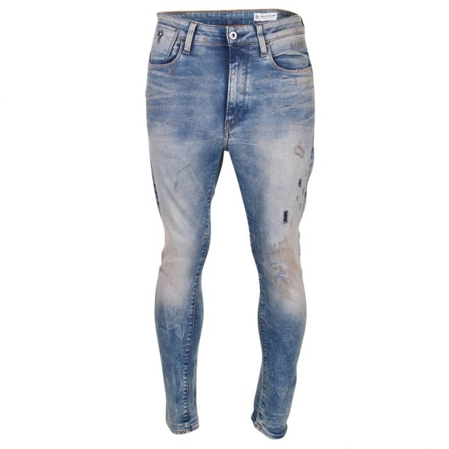 Mens Light Aged Restored Type C 3D Super Slim Fit Jeans