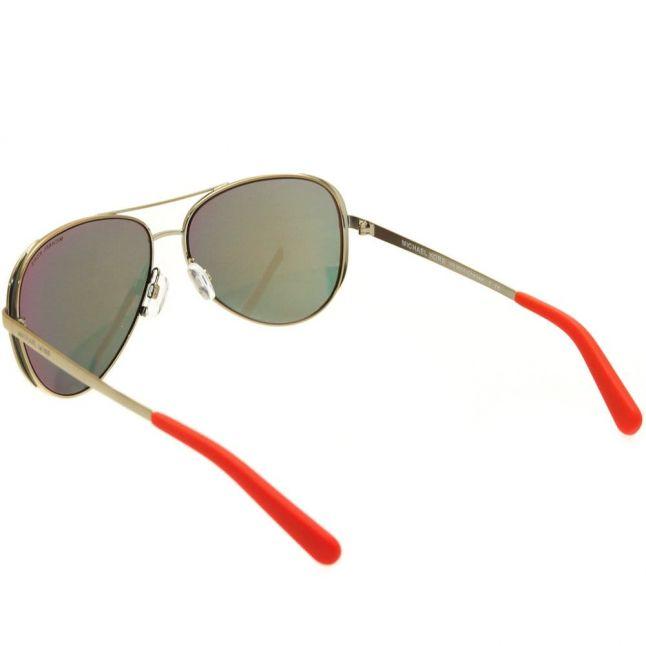Womens Gold & Orange Mirror Chelsea Sunglasses