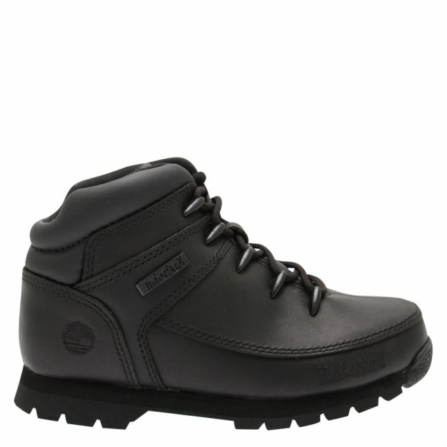 Youth Black Euro Sprint Boots (33-35)