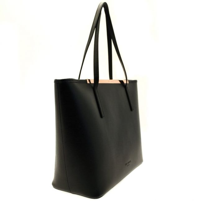 Womens Black Noelle Crosshatch Shopper Bag & Purse