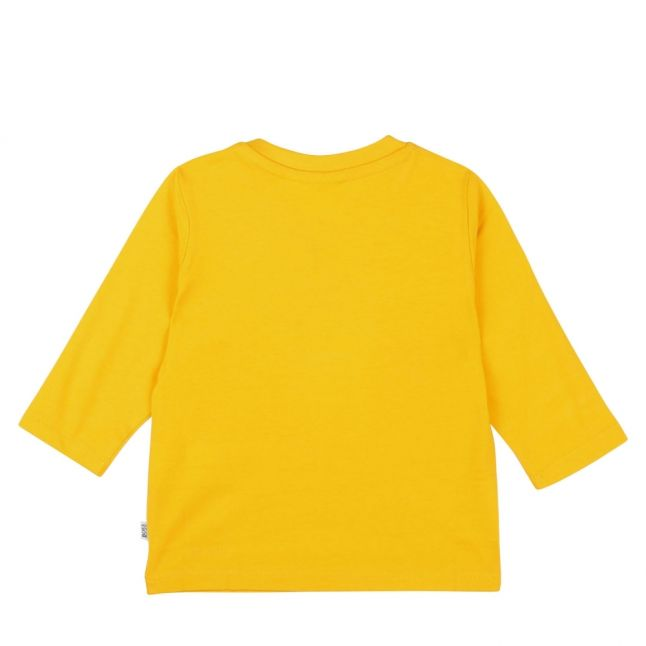 Toddler Yellow Colour Logo L/s T Shirt