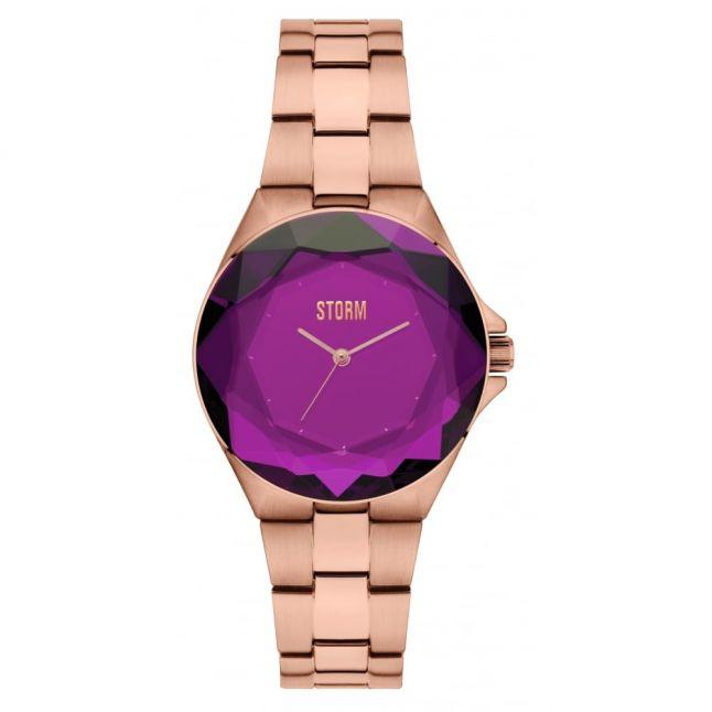 Womens Purple Crystana Watch