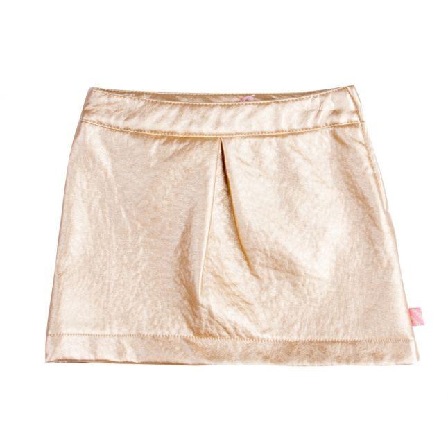 Girls Gold PU Skirt