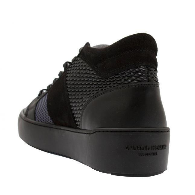 Android Homme Mens Black Grey Gloss Woven Propulsion Mid Geo Trainers